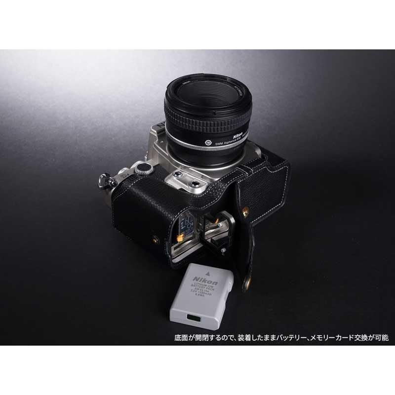 TP Original Nikon Df 専用 レザー カメラケース Black ブラック おしゃれ 速写ケース TB06DF-BK|nineselect|06