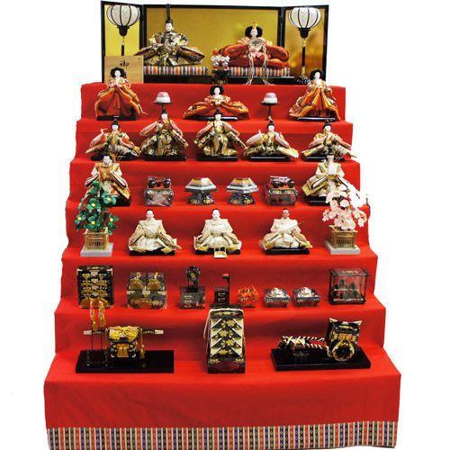 新規購入 【送料無料】雛人形 ひな人形 八番親王三五十五人もうせん七段飾り-季節玩具