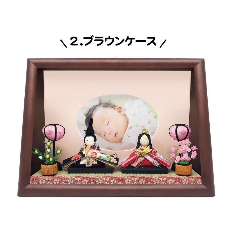 雛人形 ひな人形 おしゃれ かわいい おひなさま お雛様 数量限定!コンパクト卓上親王アクリルケース飾り 2021|ningyohonpo|06