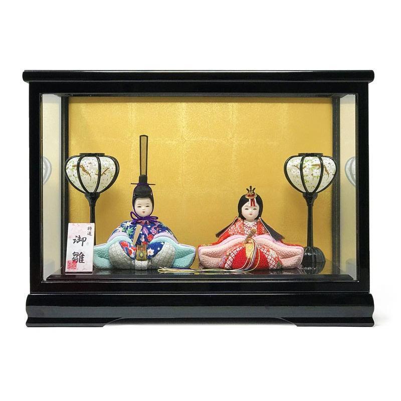 雛人形 ひな人形 木目込み親王ケース コンパクト 雛 ケース飾り|ningyohonpo|03