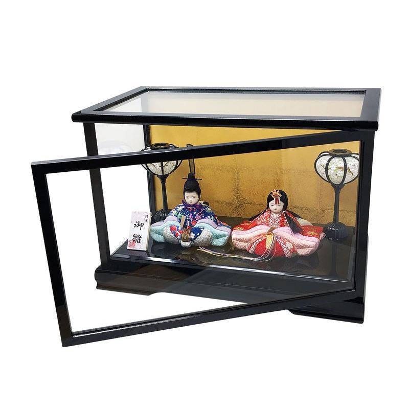 雛人形 ひな人形 木目込み親王ケース コンパクト 雛 ケース飾り|ningyohonpo|04
