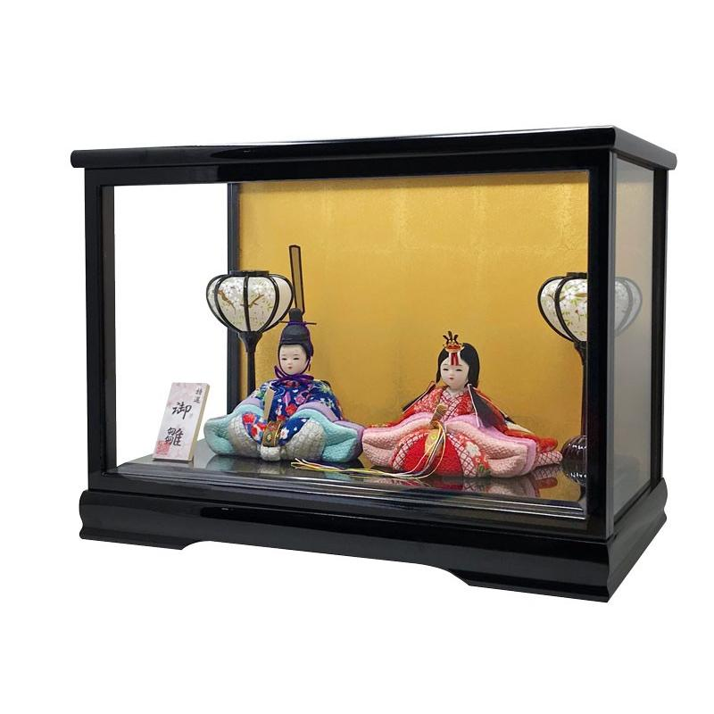 雛人形 ひな人形 木目込み親王ケース コンパクト 雛 ケース飾り|ningyohonpo|05