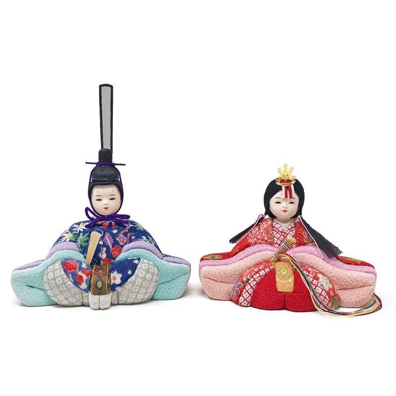 雛人形 ひな人形 木目込み親王ケース コンパクト 雛 ケース飾り|ningyohonpo|06