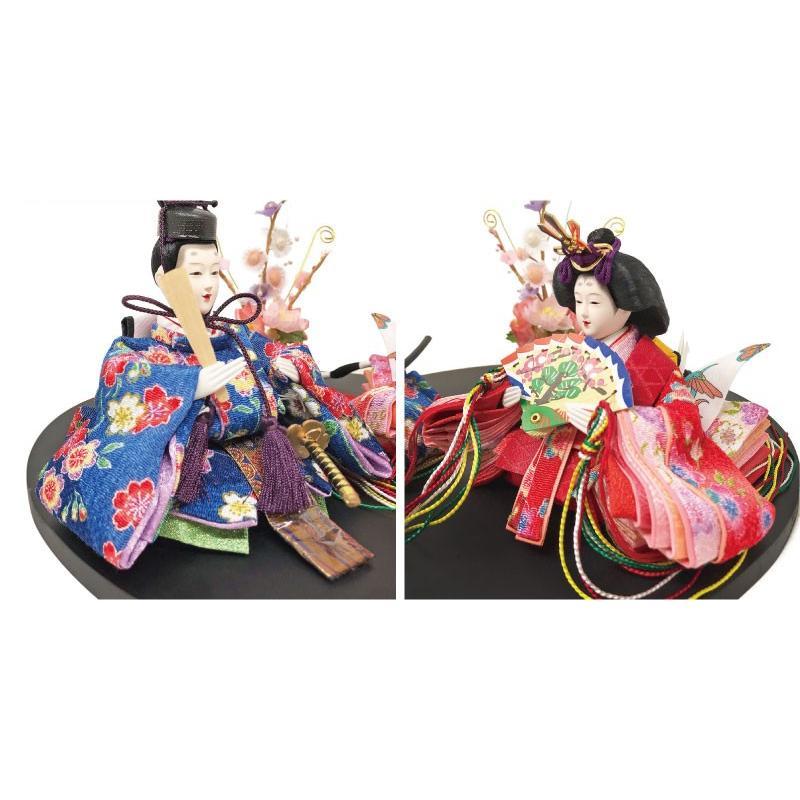 雛人形 ひな人形 まるがた雛 コンパクト 雛 親王飾り|ningyohonpo|06