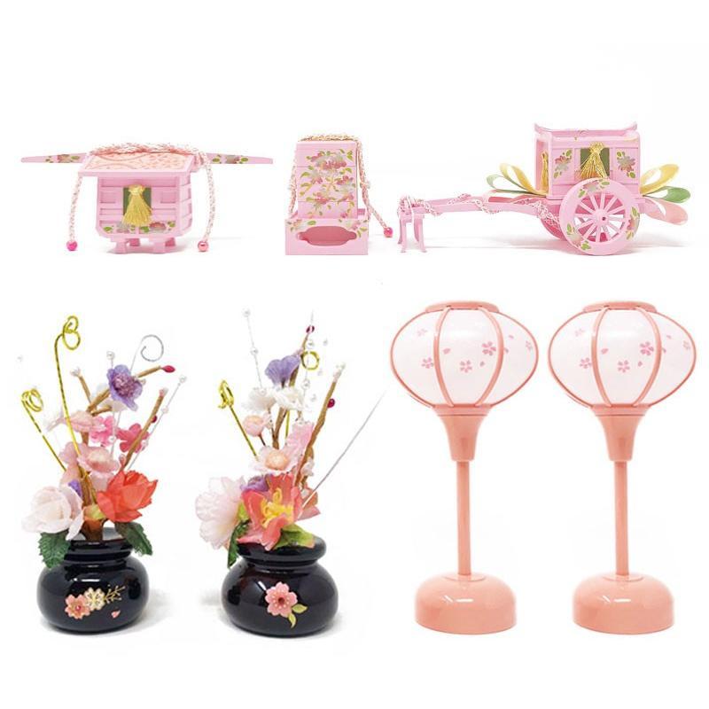 雛人形 ひな人形 ピンクケース コンパクト 雛 ケース飾り 親王飾り【2021年度新作】 ningyohonpo 11