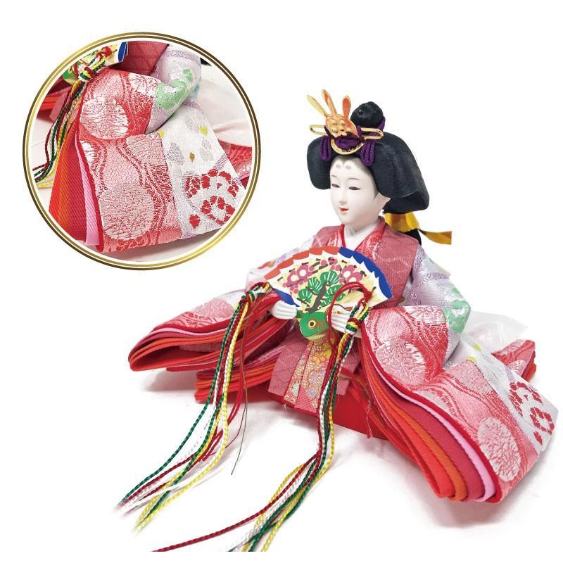 雛人形 ひな人形 ピンクケース コンパクト 雛 ケース飾り 親王飾り【2021年度新作】 ningyohonpo 06