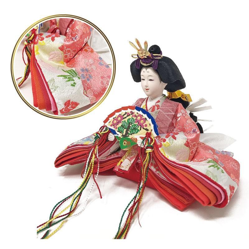 雛人形 ひな人形 ピンクケース コンパクト 雛 ケース飾り 親王飾り【2021年度新作】 ningyohonpo 09