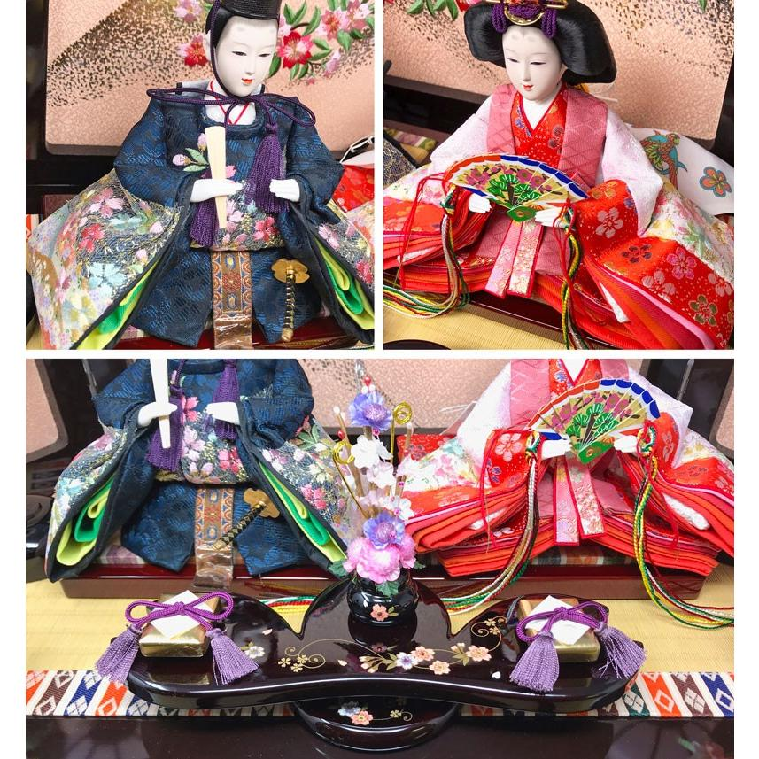 雛人形 ひな人形 特上収納飾り コンパクト 雛 親王飾り|ningyohonpo|04