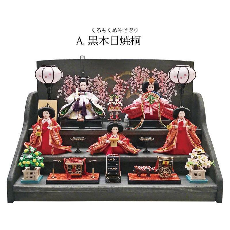 雛人形 ひな人形 焼桐三段飾り|ningyohonpo|03