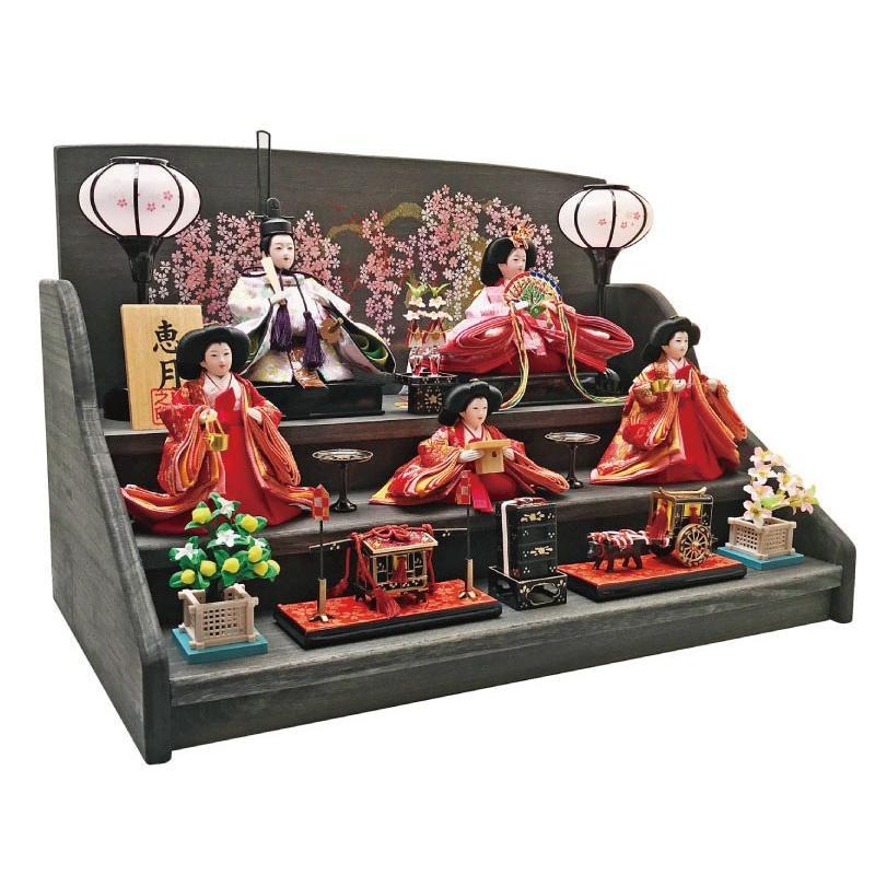 雛人形 ひな人形 焼桐三段飾り|ningyohonpo|04