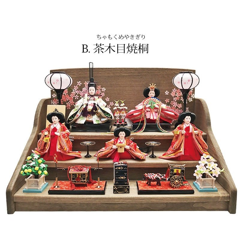 雛人形 ひな人形 焼桐三段飾り|ningyohonpo|07