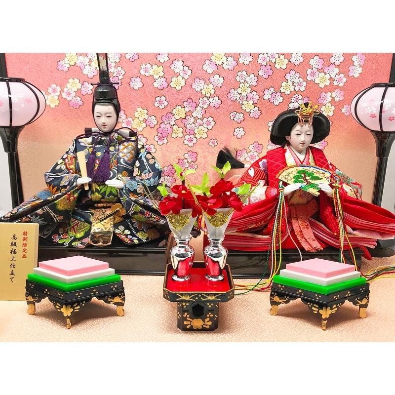 雛人形 ひな人形 コンパクト 小さい 雛 平飾り 親王飾り 【2021年度新作】|ningyohonpo|07