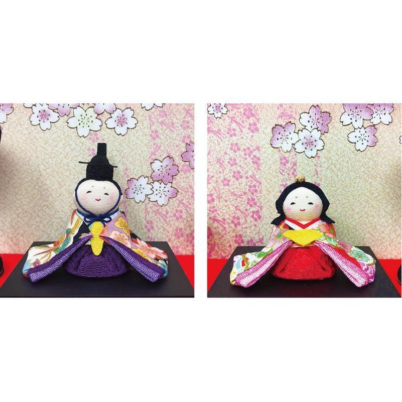 雛人形 リュウコドウ ひな人形 コンパクト ちりめん 10人 十人ケース飾り【2021年度新作】|ningyohonpo|03