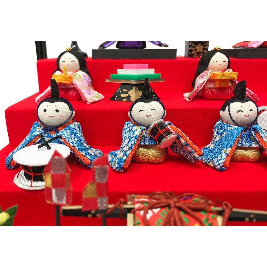 雛人形 リュウコドウ ひな人形 コンパクト ちりめん 10人 十人ケース飾り【2021年度新作】|ningyohonpo|04