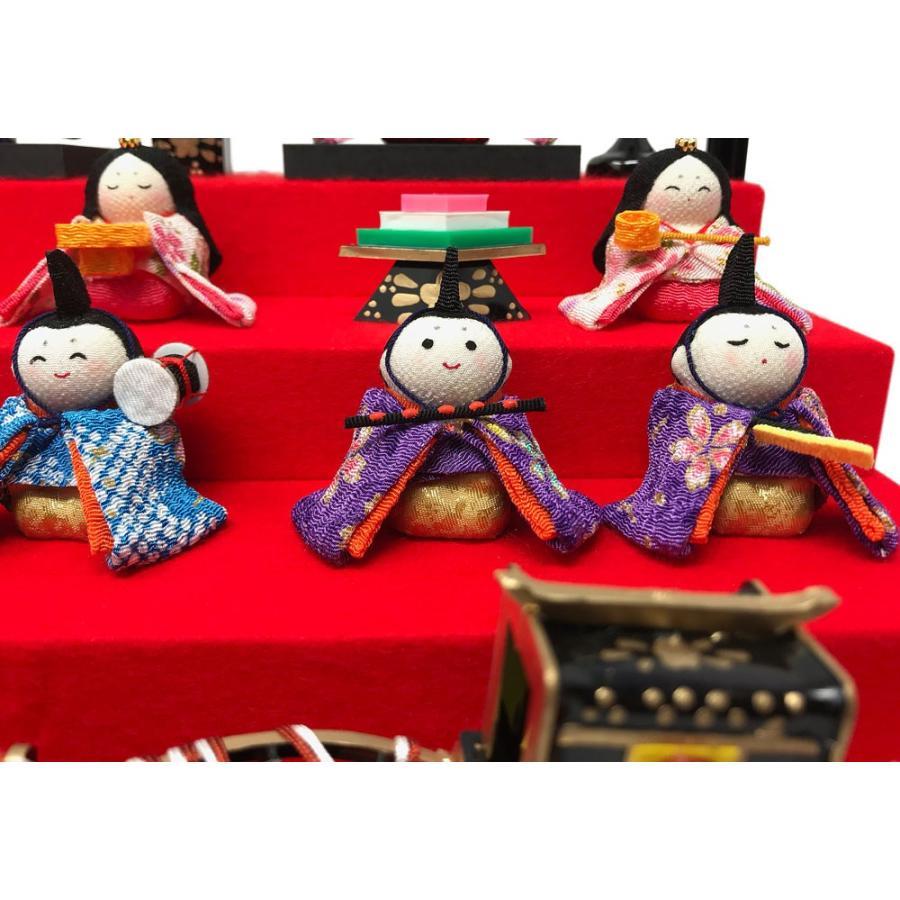 雛人形 リュウコドウ ひな人形 コンパクト ちりめん 10人 十人ケース飾り【2021年度新作】|ningyohonpo|05