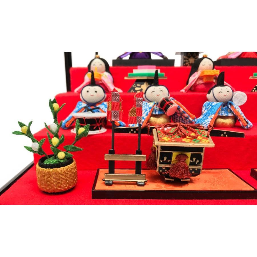 雛人形 リュウコドウ ひな人形 コンパクト ちりめん 10人 十人ケース飾り【2021年度新作】|ningyohonpo|06