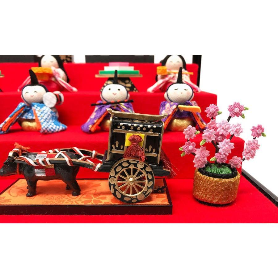 雛人形 リュウコドウ ひな人形 コンパクト ちりめん 10人 十人ケース飾り【2021年度新作】|ningyohonpo|07