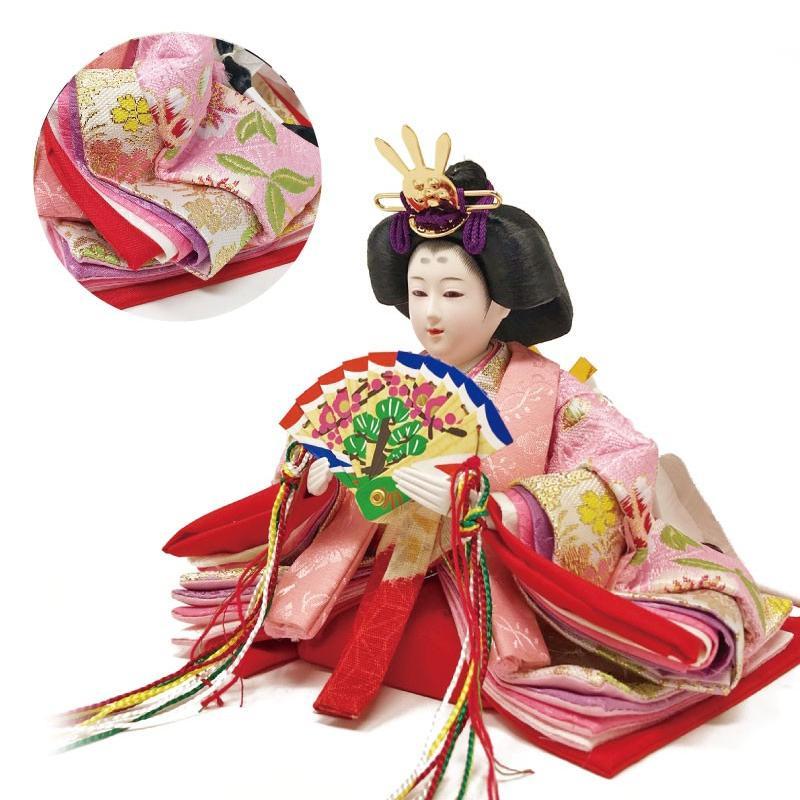 雛人形 ひな人形 ピンク平飾り コンパクト 雛 平飾り 親王飾り|ningyohonpo|06