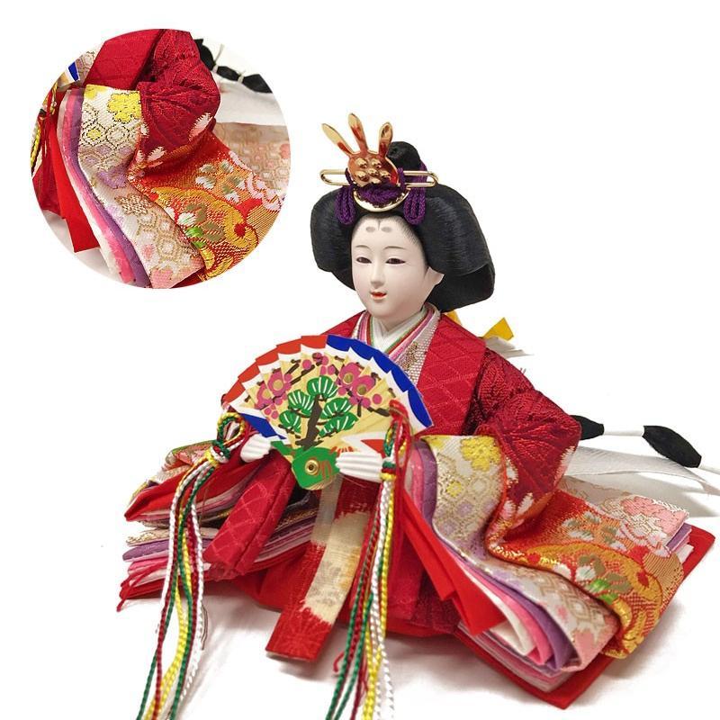 雛人形 ひな人形 ピンク平飾り コンパクト 雛 平飾り 親王飾り|ningyohonpo|08