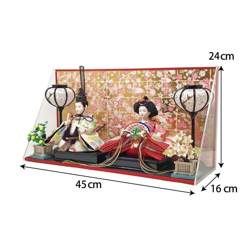 雛人形 ひな人形 壁掛けL字ケース コンパクト 雛 親王飾り ningyohonpo 11