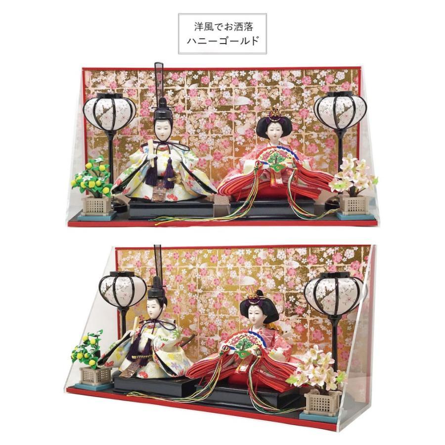 雛人形 ひな人形 壁掛けL字ケース コンパクト 雛 親王飾り ningyohonpo 05