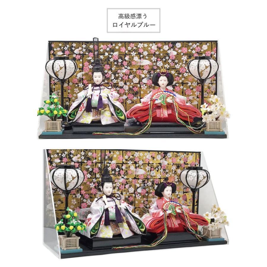 雛人形 ひな人形 壁掛けL字ケース コンパクト 雛 親王飾り ningyohonpo 08