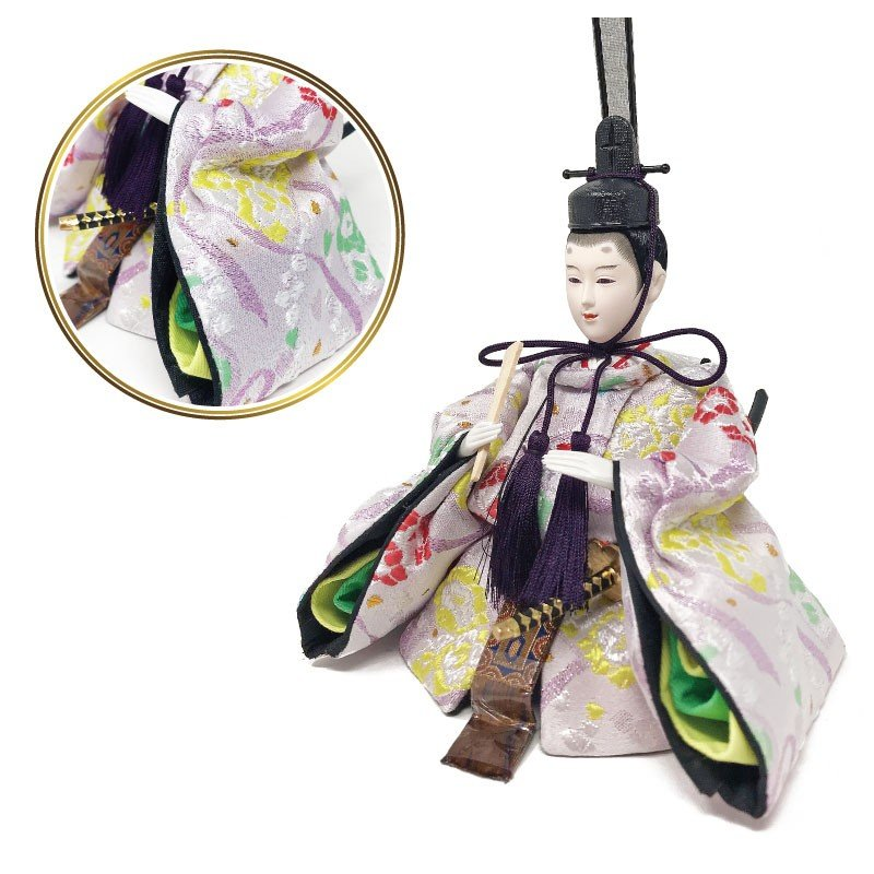 雛人形 ひな人形 壁掛けL字ケース コンパクト 雛 親王飾り ningyohonpo 09