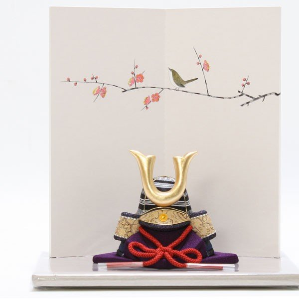 木目込みかぶと 博多織 夢筑紫 黒 兜 かぶと 五月人形 コンパクト 伝統的工芸品 通販 節句人形 初節句 兜飾り