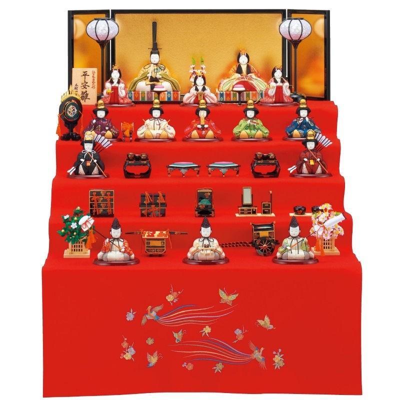雛人形 一秀 江戸木目込み人形 十五人揃い 五段飾り 幅66cm [i-20-d38]