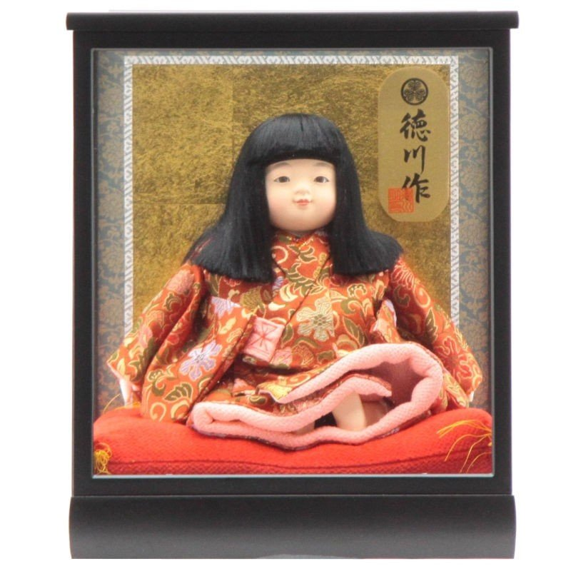 雛人形 ケース入り座り市松人形[it-1091]