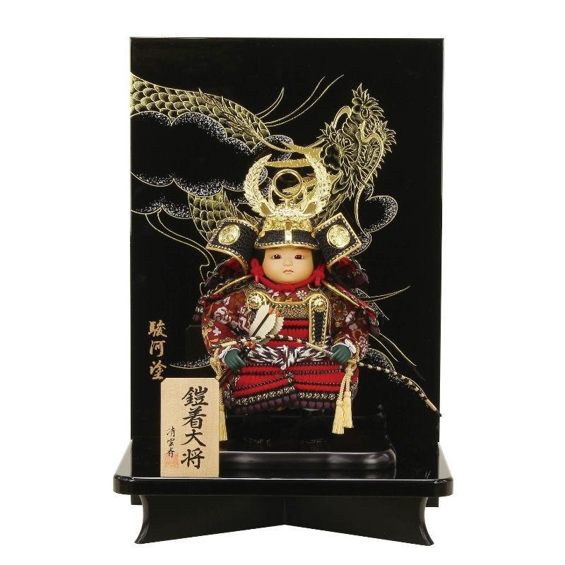 五月人形 鎧着大将 平飾り 徳川家康幅35cm[fz-85]