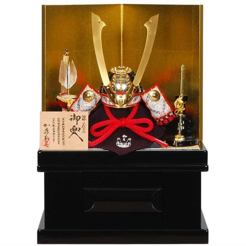 五月人形 兜 収納飾り 鞆美 源義家 幅36cm [sb-12-94]