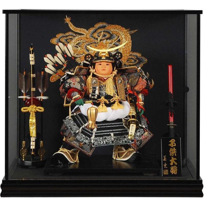 五月人形 子供大将 ケース飾り 伊達政宗 幅61cm [sb-9-75]