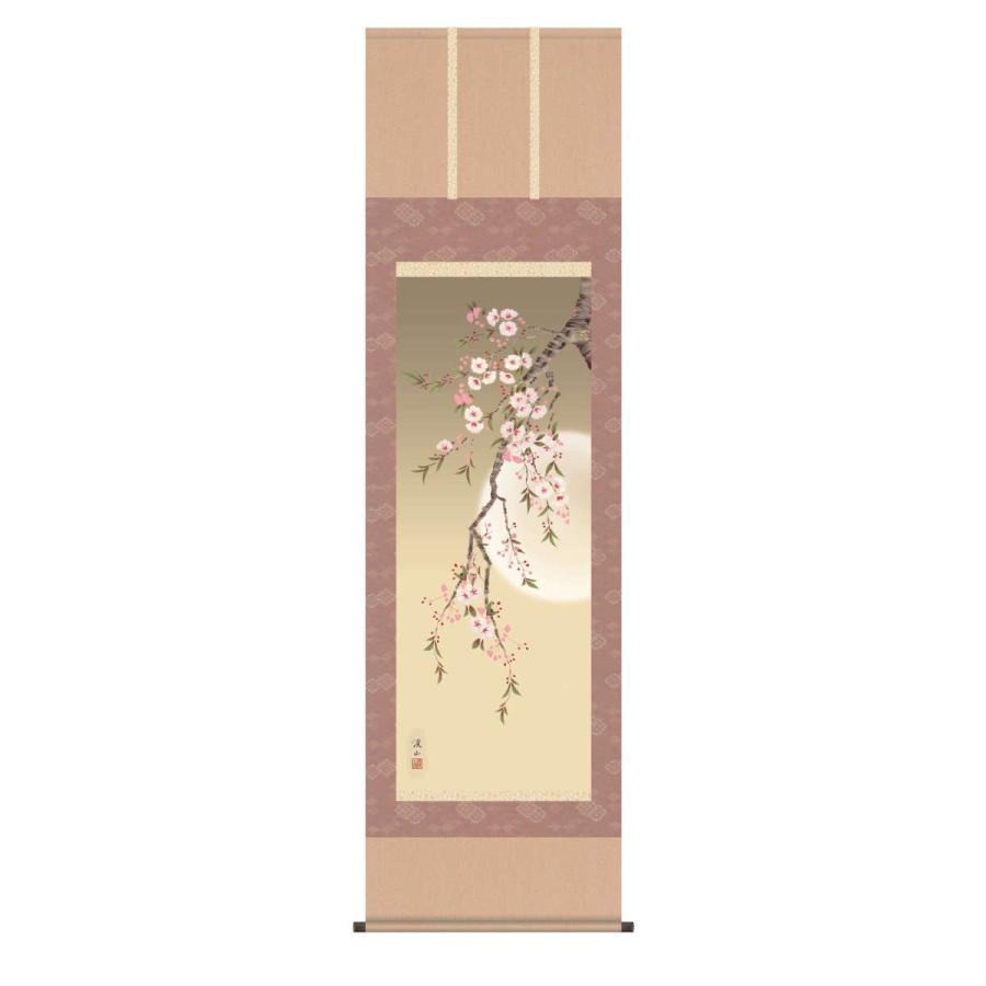 掛軸 【夜桜】 尺五 [H30A6-025A]