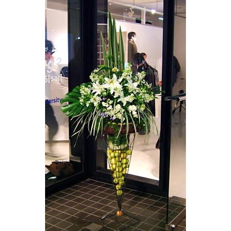 お祝い 開店祝い 結婚記念日 バレンタイン 開店 お祝い おまかせ!スタンド花 カサブランカ スタンド花 お祝い 開店祝い お祝い 誕生日