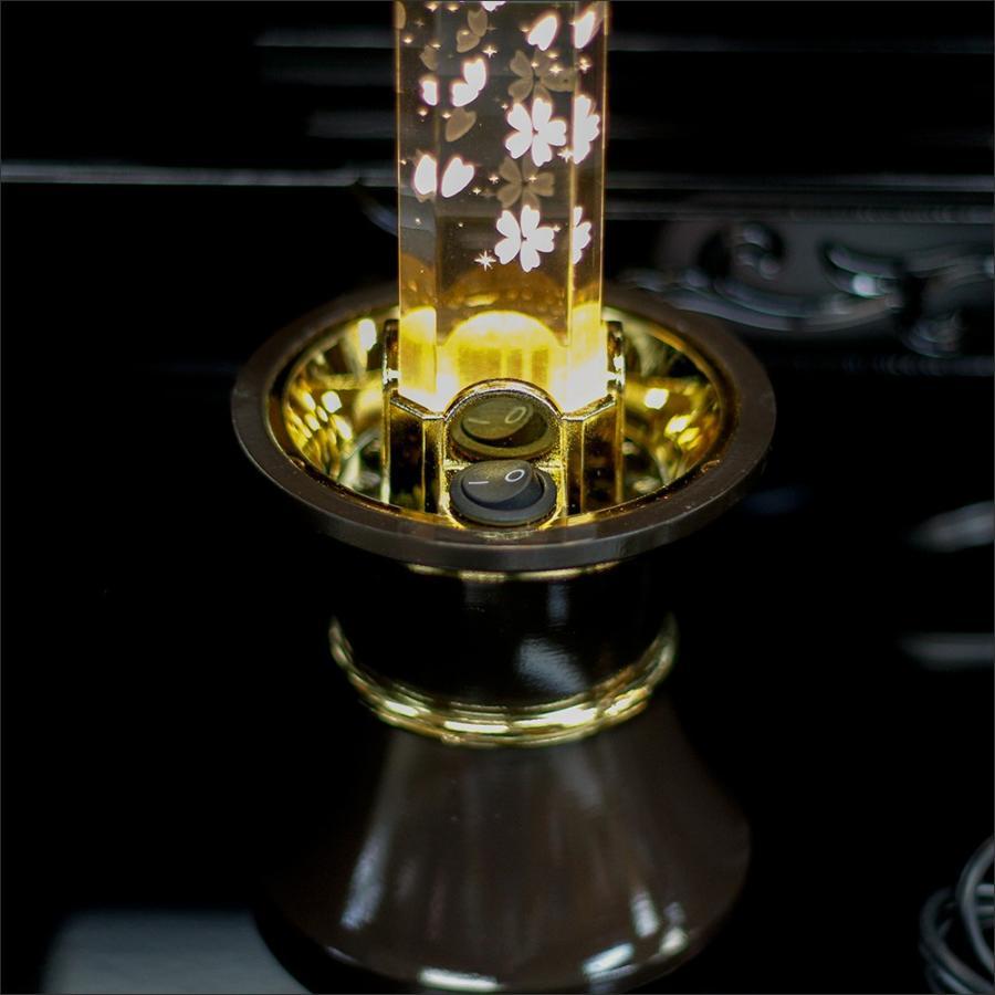 創価学会仏壇 LEDダイヤローソク33号 ゴールド ブルー又はピンク2色切り替え式 ブラウン台 2灯用 nipodo 04