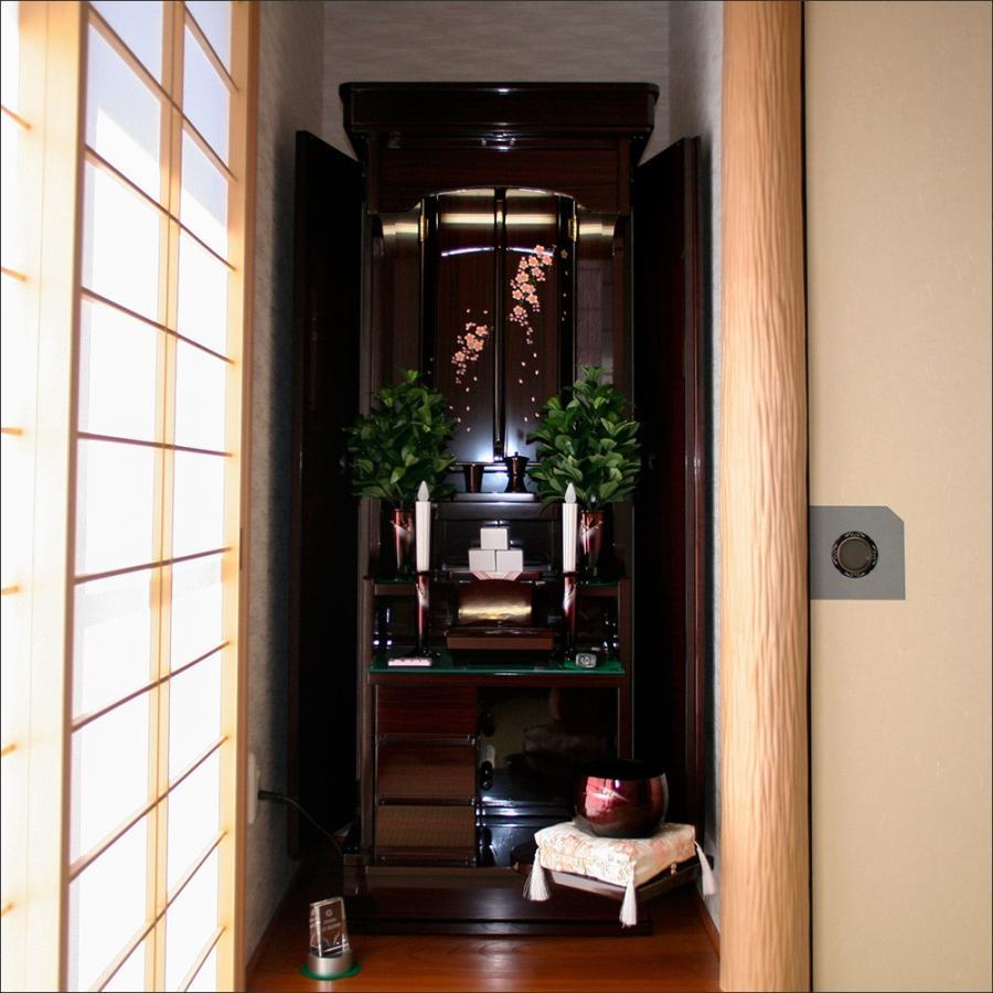 創価学会仏壇 宝塔 しだれ桜蒔絵 ローズ 仏具 付属品 LED照明付|nipodo|09