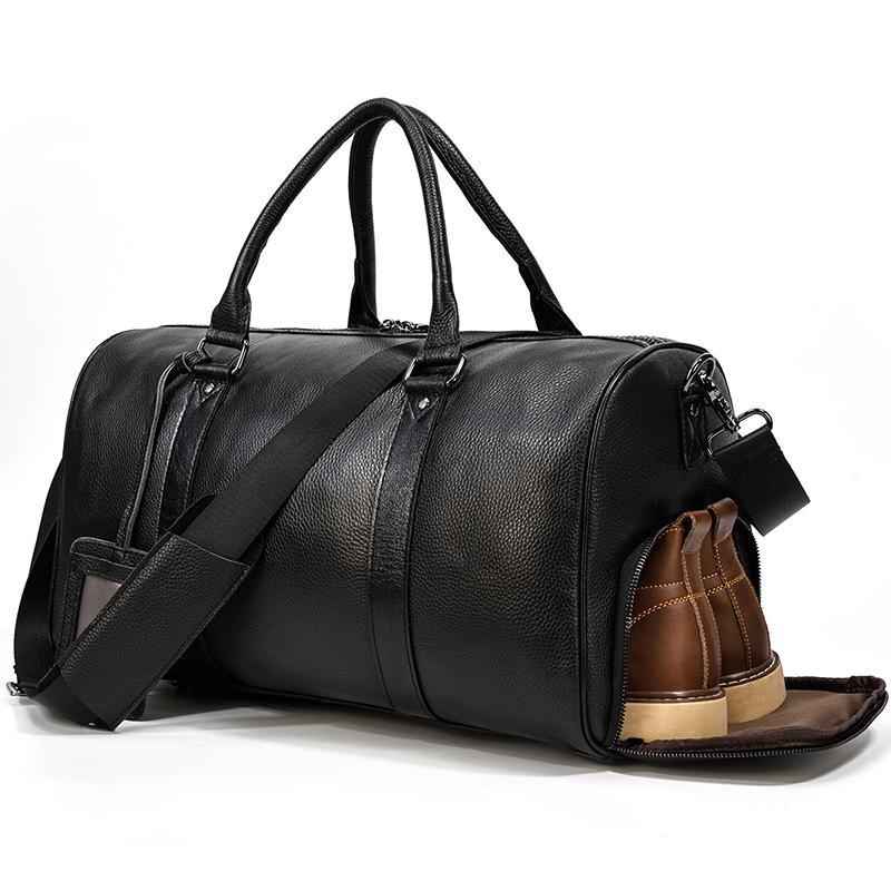 本革 ボストンバッグ メンズ レザー トラベルバッグ シューズ収納 ブラック ファクトリーアウトレット スポーツバッグ 小旅行 機内持ち込み ゴルフボストンバッグ 当店限定販売 出張 旅行鞄
