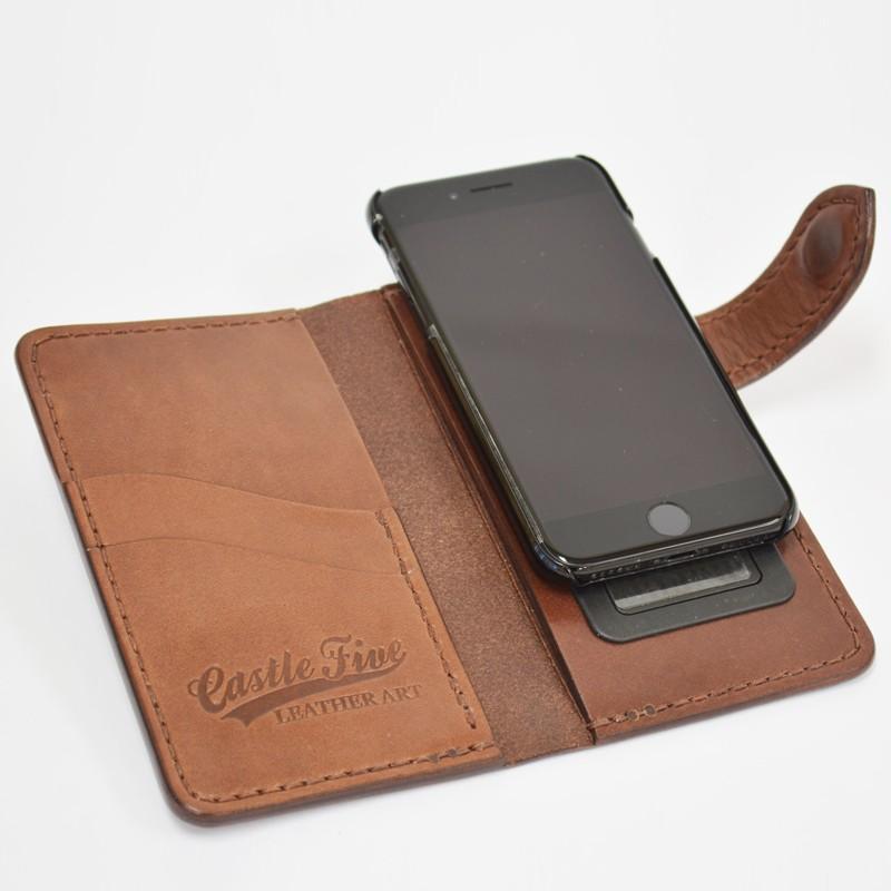 f0e8de2154 iPhoneケース 本革 レザー 牛革 サドルレザー アイフォンケース iphone7 ...