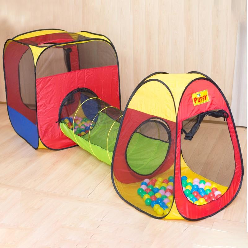 ボールハウステントセット〔テント×2個、トンネル×1個、テント収納バッグ×2個、トンネル収納バッグ×1個、EVAボール×150個他〕 送料無料 ポイント消化