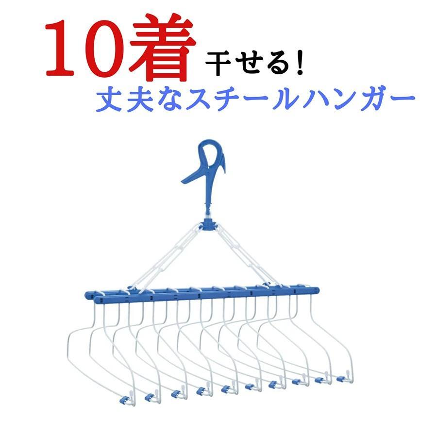 洗濯ハンガー ピンチハンガー 物干しハンガー ステンレス 10連式 WEB限定 スチール 国内正規品