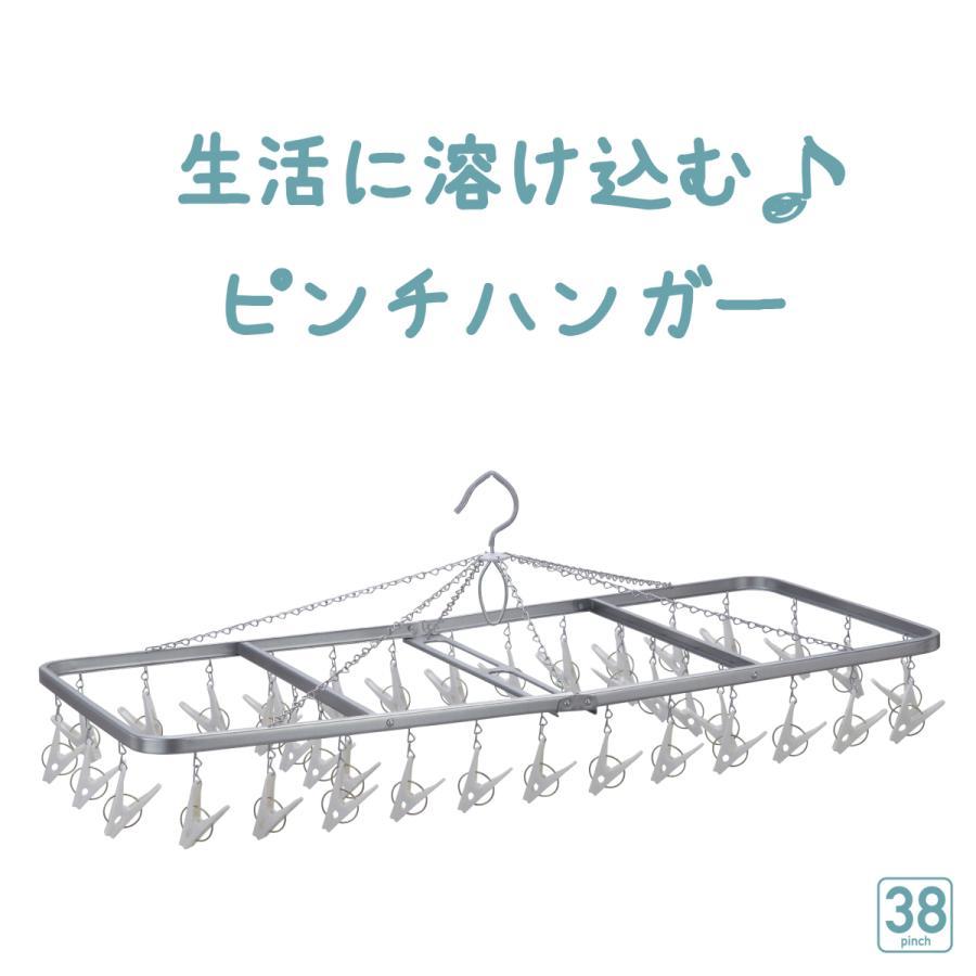 洗濯ハンガー ピンチハンガー 物干しハンガー 38ピンチ  ピンチハンガー   ステンレス スチール  洗濯ばさみ|nishida|03