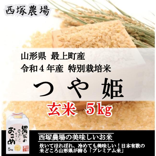 【新米】特別栽培米つや姫 (令和3年産)玄米 5kg|nishiduka-farm