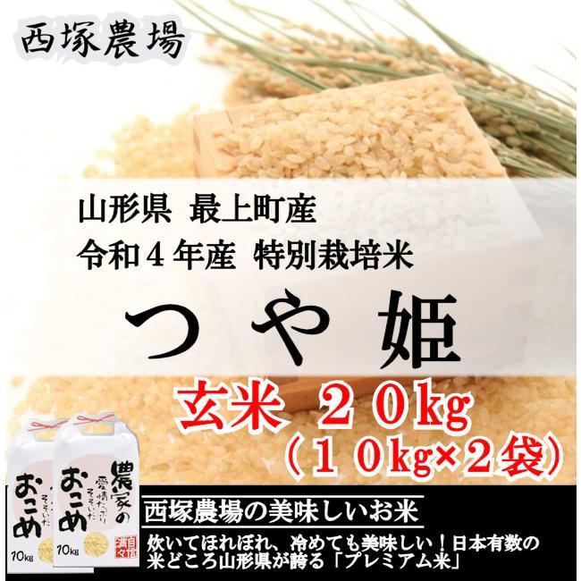 特別栽培米つや姫 (令和2年産)玄米 20kg|nishiduka-farm