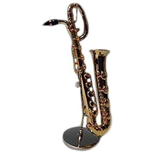 ミニチュア楽器 フィギュア バリトンサックス カラーゴールド 金属製 AL完売しました 15.5cm 飾り物で音は出ません 1 サンライズサウンドハウス 6 お中元