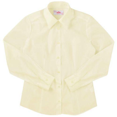 BESTELLA スクールシャツ セール 長袖 制服 女子 BS303 形態安定加工 S〜LL レビューを書けば送料当店負担 イエロー