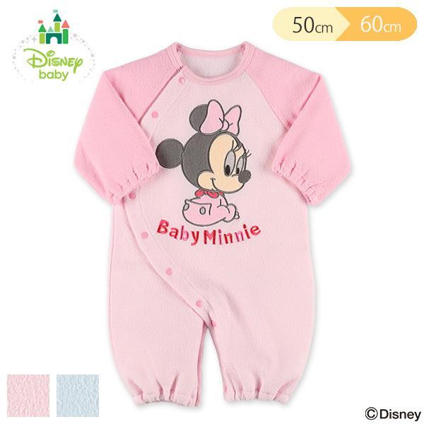 ディズニー 新作 ブークレラグラン長袖コンビドレス ミッキー ミニー お気にいる 新生児50-60cm