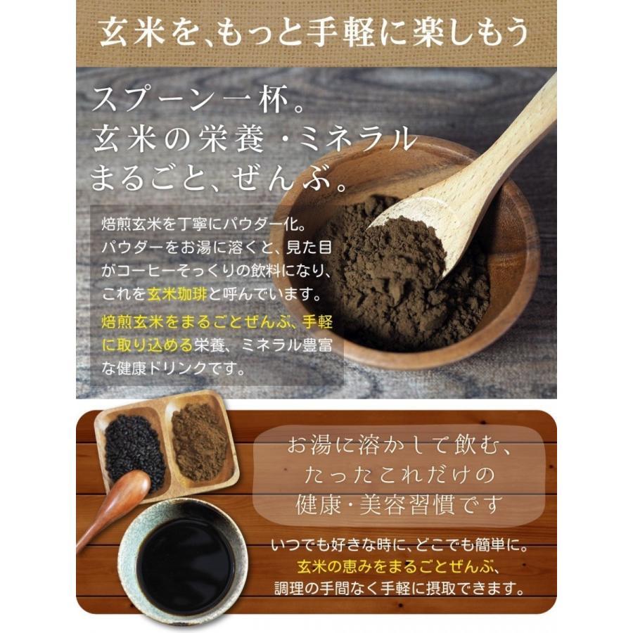 玄米珈琲(玄米コーヒー)パウダータイプ 100g 九州産 無農薬 有機JAS玄米100%使用 ノンカフェイン nishio-cha 08