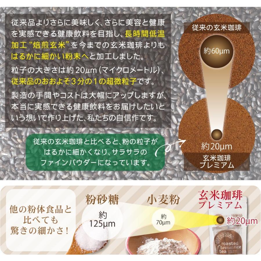 玄米珈琲(玄米コーヒー)プレミアムスティックタイプ 2g×13本入 (鹿児島県産 無農薬 有機JAS認定玄米100%) nishio-cha 05