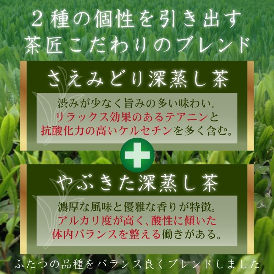 【2021年度産 新茶】かのや深蒸し茶 山霧(やまぎり)100g×2袋セット 減農薬栽培茶 さえみどり やぶきたブレンド nishio-cha 04